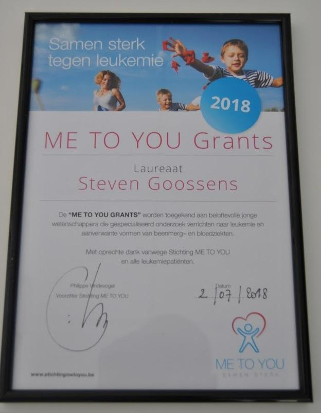 Steven Goossens receives 'Me to You' grant (2)